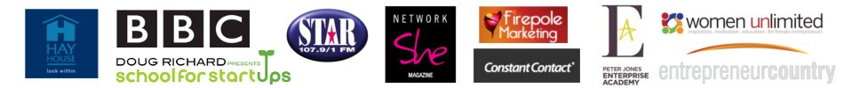 Wire Yourself For Wealth is endorsed by Hay House Publishing, the BBC, the Doug Richard School for Start Ups, Star 107.9 FM, Network She Magazine, Firepole Marketing, Constant Contact, Peter Jones Enterprise Academy, Women Unlimited and Entrepreneur Country.